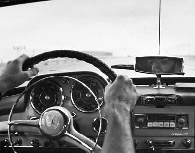 Photograph - On The Road In A Classic Mercedes Benz  by Allen Sheffield