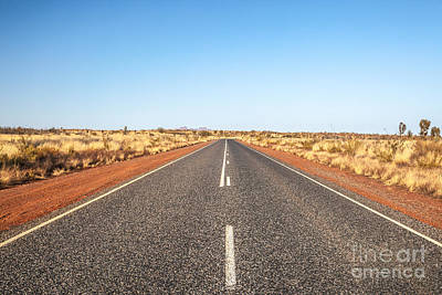 Uluru Photograph - On The Road by Matteo Colombo