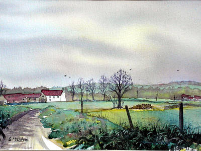 Painting - On The Road To Grassmoor by Glenn Marshall