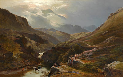 Percy Painting - On The Road To Loch Turret Crieff by Sidney Richard Percy