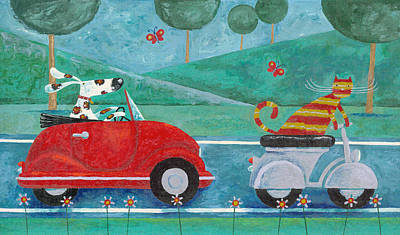 Domestic Animals Photograph - On The Road With Duke And Sweetpea by Peter Adderley