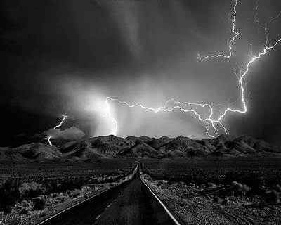 Lightning Photograph - On The Road With The Thunder Gods by Yvette Depaepe