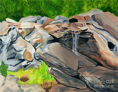 Painting - On The Rocks by Annette M Stevenson