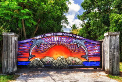Photograph - On The Rocks Entry Gate by Frank J Benz