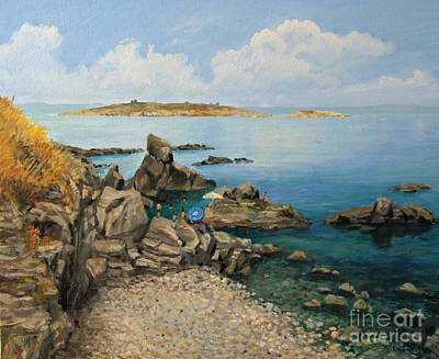 On The Rocks In The Old Part Of Sozopol Print by Kiril Stanchev