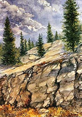 Painting - On The Rocks by Lynne Wright