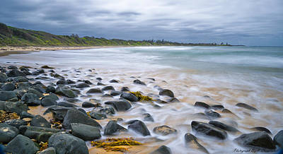 Photograph - On The Rocks Saltwater 01 by Kevin Chippindall