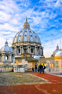 Photograph - On The Roof Of St Peter's In Rome by Mark E Tisdale