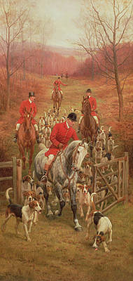 The Hunt Painting - On The Scent, 1906 by Edward Algernon Stuart Douglas