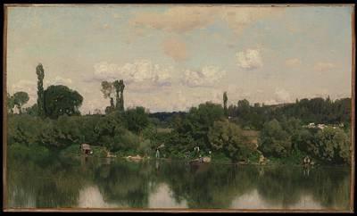 N.y Painting - On The Seine by Mart�n Rico y Ortega