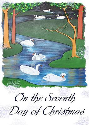 On The Seventh Day Of Christmas Art Print by Tracey Harrington-Simpson