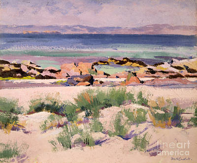 On The Shore  Iona  Art Print by Francis Campbell Boileau Cadell
