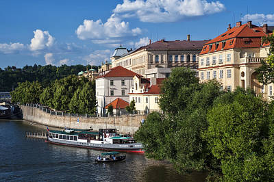 On The Shore Of Vltava. Prague Art Print by Jenny Rainbow