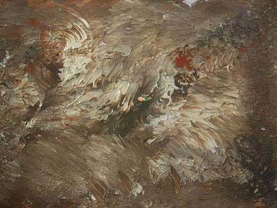 Raw Umber Painting - On The Side Of A Gravel Road by Karen Lillard