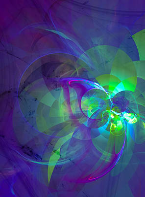 Contemporary Abstract Digital Art - On The Streets by Modern Art Prints
