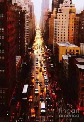 Rainy Day Photograph - New York City On A Rainy Day by Nishanth Gopinathan