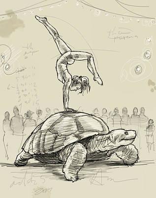 Tortoise Digital Art - On The Tortoise by H James Hoff