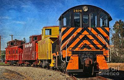 Old Caboose Photograph - On The Tracks by Peggy Hughes