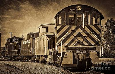 Old Caboose Photograph - On The Tracks... Take Two. by Peggy Hughes