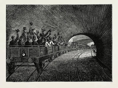 London Tube Drawing - On The Underground Railway by Litz Collection