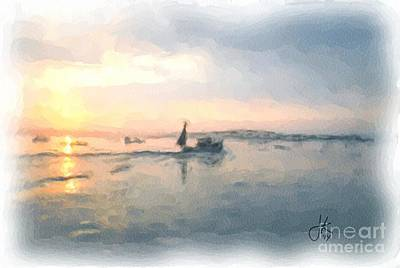 Painting - On The Water 873 20140729 by Julie Knapp