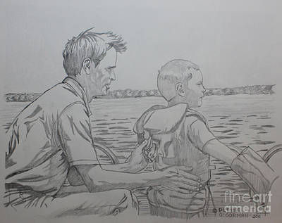 Drawing - On The Water by Derek O'Gorman