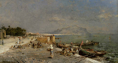 On The Waterfront At Palermo Art Print