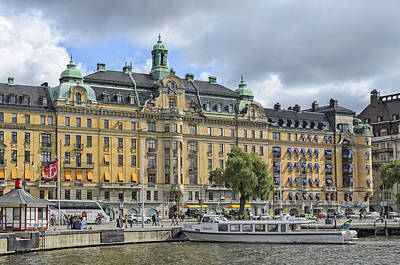 Photograph - On The Waterfront Stockholm Sweden by Marianne Campolongo