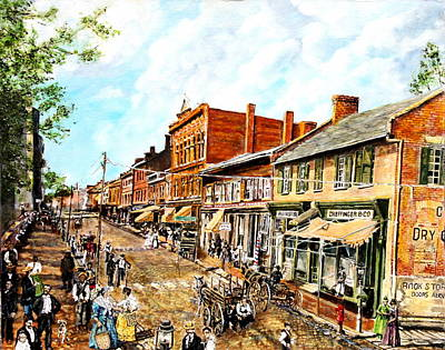 Hard Times Painting - On The Way From Appomattox To Dunning School by Thomas Akers