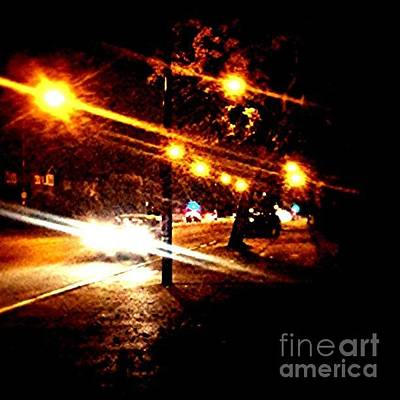 Light Photograph - On The Way Home Tonight by Abbie Shores