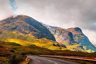 On The Way To Glencoe. Scotland Print by Jenny Rainbow