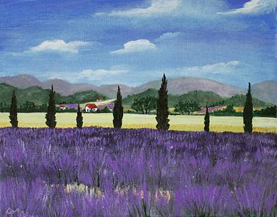 Painting - On The Way To Roussillon by Anastasiya Malakhova
