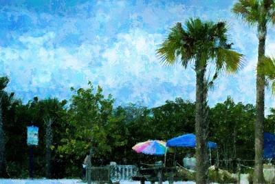 Beach Landscape Mixed Media - On The Way To The Beach by Florene Welebny