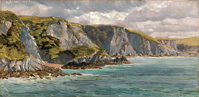 July Painting - On The Welsh Coast Seascape Dated, Upper Left 19 July 6 Or by Litz Collection