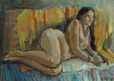 Painting - On The Yellow Carpet by Juliya Zhukova