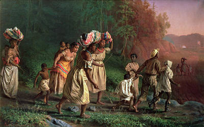 Emancipation Painting - On To Liberty, 1867 by Theodor Kaufmann