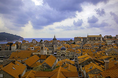 Red Roof Photograph - On Top Of The World - Dubrovnic by Madeline Ellis