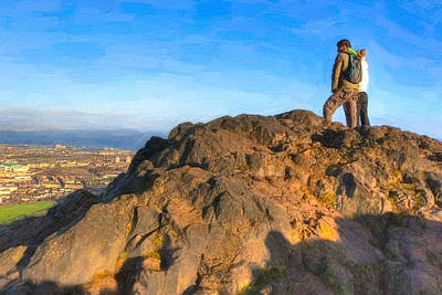 Photograph - On Top Of The World In Edinburgh - Arthur's Seat by Mark E Tisdale