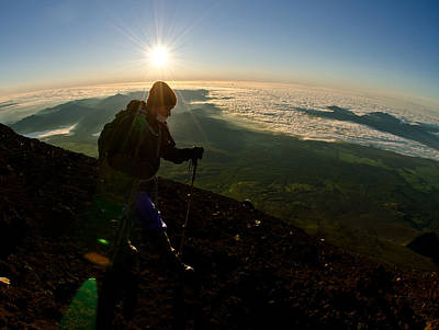 Backpacking Photograph - On Top Of Things by Aaron Bedell