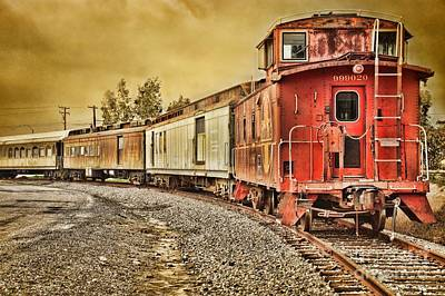 Old Caboose Photograph - On Track - Take Two by Peggy Hughes