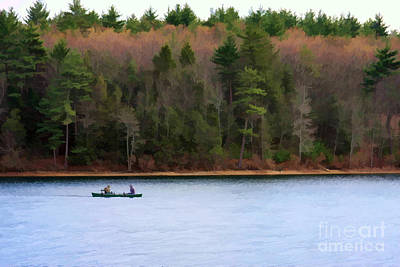 On Walden Pond Art Print by Jayne Carney