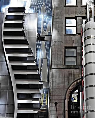 Contemporary Abstract Photograph - On West 42nd Street 2 by Sarah Loft