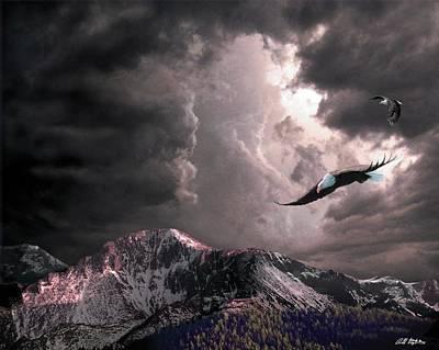On Wings Of Eagles Art Print by Bill Stephens