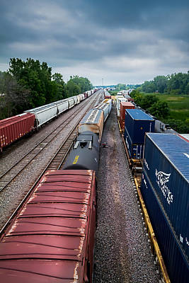 Photograph - Onalaska Train Yard by Ron Pate