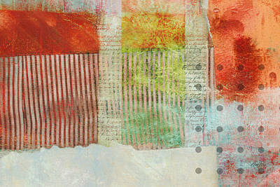 Once Again Abstract Art Art Print by Ann Powell