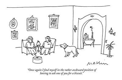 Pets Drawing - Once Again I Find Myself In The Rather Awkward by Michael Maslin