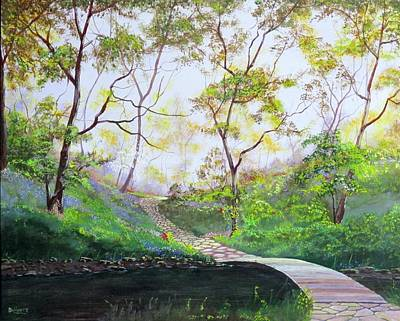 Comfort Painting - Once Around The Park by Michael Dillon