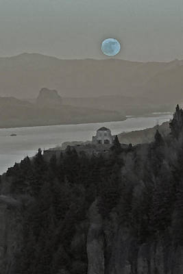 Art Print featuring the photograph Once In A Blue Moon by Judi Baker