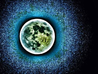 Mills Photograph - Once In A Blue Moon by Marianna Mills