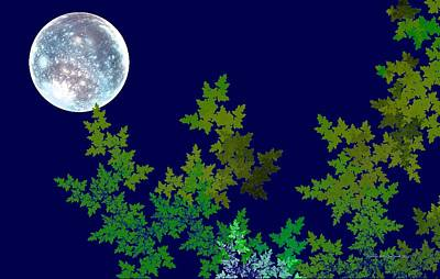 Digital Art - Once In A Blue Moon by Naomi Richmond